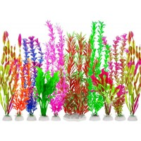 Fish Tank Plants, 10 Pack Artificial Aquarium Plants Plastic Water Plants for Aquarium Decorations