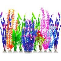 Fish Tank Plants, 10 Pack Artificial Aquarium Plants Plastic Water Plants for Aquarium Decorations