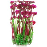Large Aquarium Plants, Artificial Plastic Fish Tank Plants for Aquarium Decorations, 15.75 Inches (Purple)