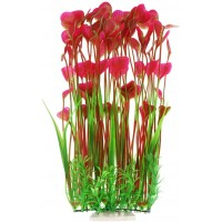 Large Aquarium Plants, Artificial Plastic Fish Tank Plants for Aquarium Decorations, 15.75 Inches (Red)