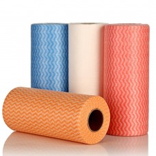 "1 Roll Disposable Breakpoint Non-woven Rags, 8"" Width x 12"" Length, Color Random (50Pcs/Roll)"