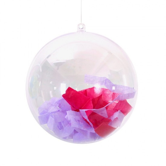 mylifeunit plastic ball ornament fillable 100mm clear christmas balls ornaments 12 pack