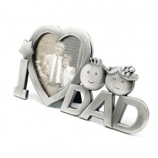 Photo Frame for Dad, Metallic Photo Frame on Desk I Heart Dad Display, Gift for Dad (for Dad)