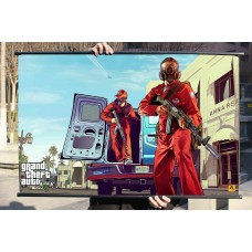 "GTA V Fabric Wall Scroll Poster, Grand Theft Auto V Poster Fabric Print 32"" x 20"" (80cm x 50cm) (Bugstars)"