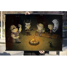 "Don't Strave Fabric Wall Scroll Poster, 32"" x 20"" (80cm x 50cm) (Campfire)"