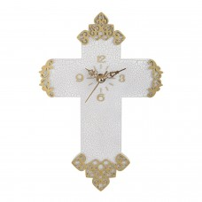Jesus Christ Cross Wall Clock, 10-Inch Cross Clock for Church or Home Decor, Christian Gift