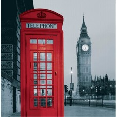 London UK Big Ben Red Phone Shower Curtain
