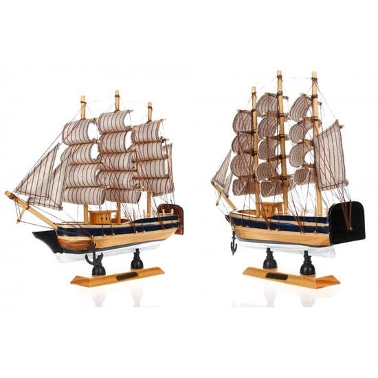 Mylifeunit Vintage Nautical Wooden Model Ships 9 Wood Sailboat