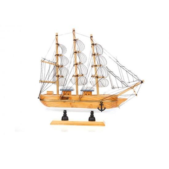 Wooden sailboat home decor