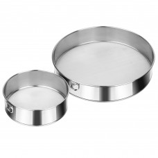 Stainless Steel Flour Sieve, 60 Mesh Sifter, Set of 2 (6inch, 10inch)