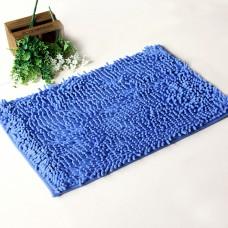Chenille Bath Rugs Non Slip Absorbent Bath Mats, 23 x 16 Inch (Blue)