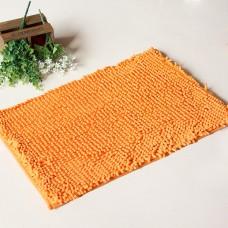 "Chenille Bath Rugs Non Slip Absorbent Bath Mats, 23 × 16"" (Orange)"