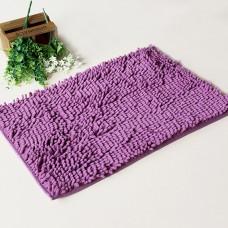 Chenille Bath Rugs Non Slip Absorbent Bath Mats, 23 x 16 Inch (Purple)