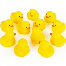 Mini Yellow Rubber Bath Ducks for Child 20pcs/set
