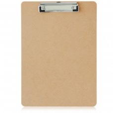"Letter Size Hardboard Clipboard with Low-Profile Clip, 9"" x 12 1/2"" (Pack of 3)"