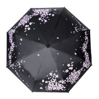 Oriental Cherry Blossom Automatic Folding Travel Compact Umbrella
