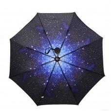 Starry Star Sky Automatic Folding Compact Umbrella