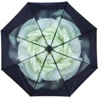 Gardenia Compact Umbrella, White Gardenia Jasmine Folding Umbrella