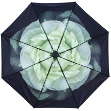 Gardenia Compact Umbrella, White Gardenia Jasmine Folding Umbrella