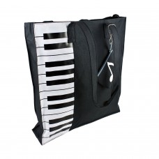Piano Tote Bag, Nylon Piano Bag for Piano Books Piano Lessons