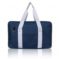 Japanese School Bag, Horizontal Anime High School Bag for Cosplay (Blue)