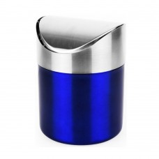 Mini Countertop Trash Can, Stainless Steel, 1.2 L (Blue)