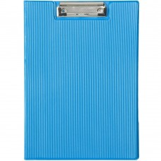 Clipboard Folder with Pocket, Clipboard Padfolio File Folder, Letter Size or A4 Size (Blue)