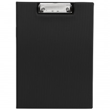 Clipboard Folder with Pocket, Clipboard Padfolio File Folder, Letter Size or A4 Size (Black)