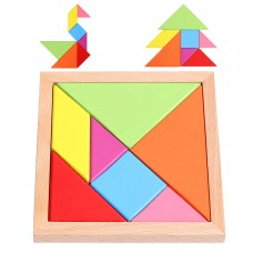 Tangram Puzzles, Wood Tangram Puzzles Tangoes Educational Toy, 7 PCS