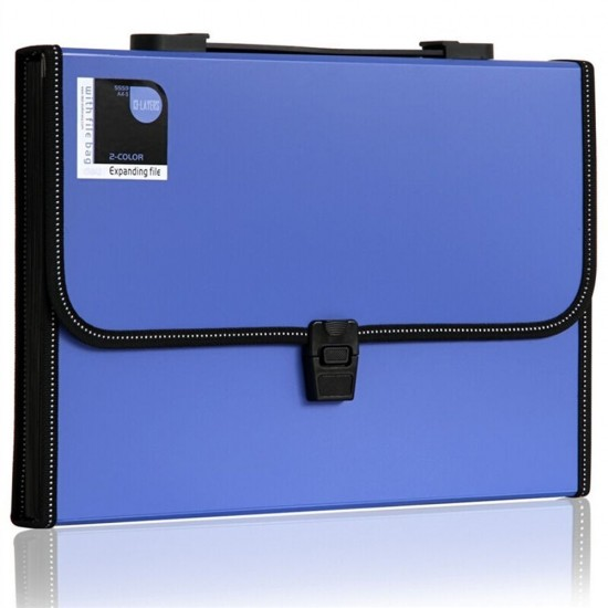 13pocket poly expanding file with handle accordion file folder letter size blue - Accordion Folder