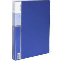 60-Pocket Business A4 Sheet Presentation Book, 120-Page Capacity for A4 and Letter Size Inserts (Blue)
