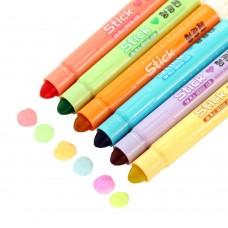 Gel Highlighter Set, Solid Gel Highlighters Assorted Colors, Pack of 6
