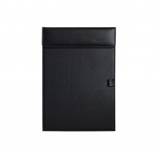 Business Letter Size Leather clipboard Office Hotel Writing Pad (Black)