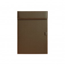 Business Letter Size Leather clipboard Office Hotel Writing Pad (Brown)