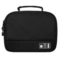 Electronics Accessories Travel Bag, Electronics Travel Organizer, Cable Wire Storage Bag, Black