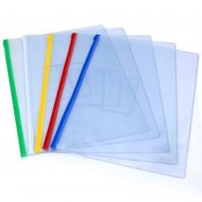Zipper File Bags, A4 Plastic Folders Waterproof Document Pouch, 20 Counts