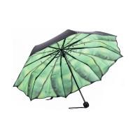 Banana Leaf Umbrella, Green Leaf Compact Folding Umbrella