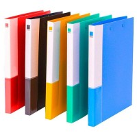 Plastic Pocket Folder, Colored File Folder with Double Strong Clips, 5 Pack