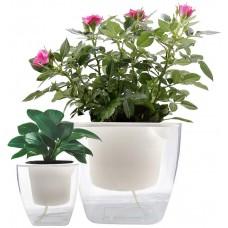 Self Watering Planter, Self-Watering Flower Pots for Indoor Plants, Set of 2