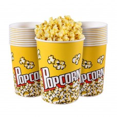 Popcorn Boxes, 32 OZ Paper Popcorn Containers for Party and Movie Night (20 Pack)