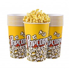Popcorn Boxes, 64 OZ Paper Popcorn Containers for Party and Movie Night (20 Pack)
