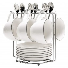 Coffee Cup Rack Stand, Stainless Steel Coffee Cup Holders for Counter, 6 Hooks