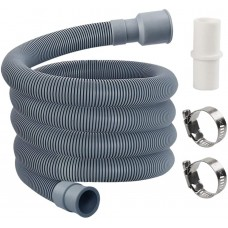 Washing Machine Drain Hose, Washer Drain Hose Extension Kit with 1 Extension Adapter and 2 Hose Clamps, 6-Feet