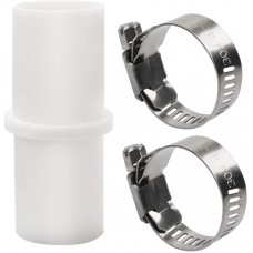 Washing Machine Drain Hose Connector, Washer Drain Hose Extension Adapter with 2 Hose Clamps, Fit for 0.8 Inch Hose