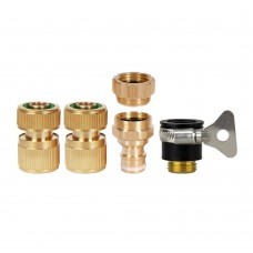 Brass Garden Hose Quick Connect Fittings Set