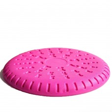 Rubber Soft Frisbee Dog Toy Dog Frisbee Game Frisbee Bite Resistant Pet Training Supplies,Pack of 1. (Pink)
