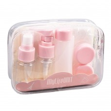 Travel Bottles Set with Toiletry Bag, Portable Packing Bottles, Leak Proof