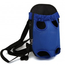 Pet Front Carrier, Dog and Cat Travel Backpack, Legs Out (Blue)