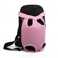Pet Front Carrier, Dog and Cat Travel Backpack, Legs Out (Pink)