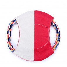 Flying Disc for Dog, Soft Flying Disc Toy with Rope Ring, 7.1 Inch Diameter